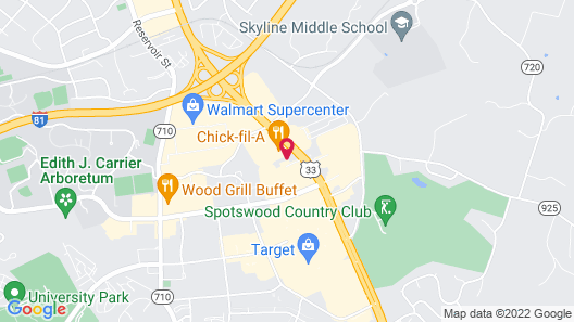 Econo Lodge Harrisonburg near University Map