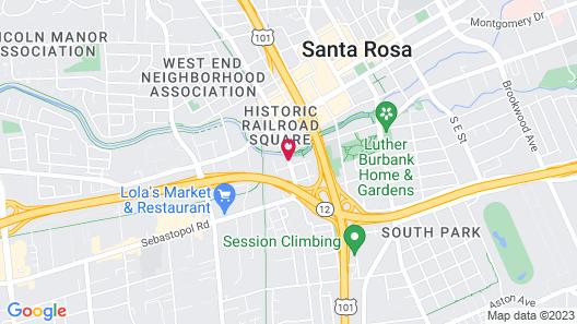 Courtyard by Marriott Santa Rosa Map