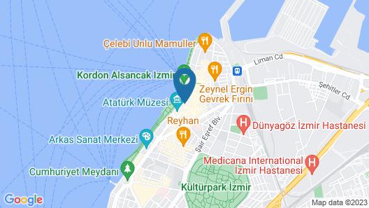 Ege Palas Business Hotel Map