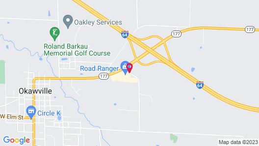 Super 8 by Wyndham Okawville Map