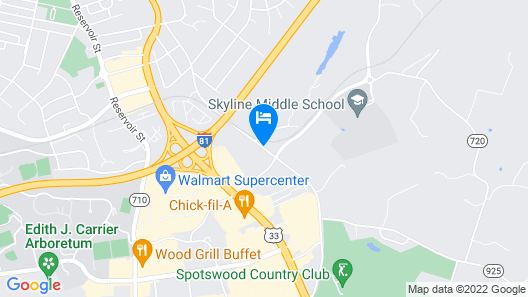 Candlewood Suites Harrisonburg, an IHG Hotel Map