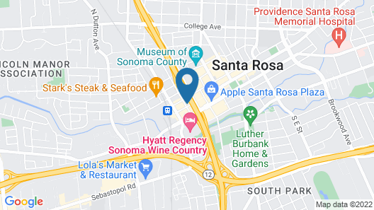 AC by Marriott Santa Rosa Downtown Map