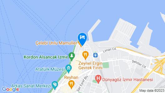 HAY Hotel Alsancak Map