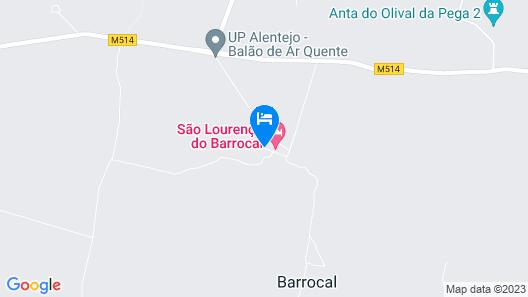 São Lourenço do Barrocal Map
