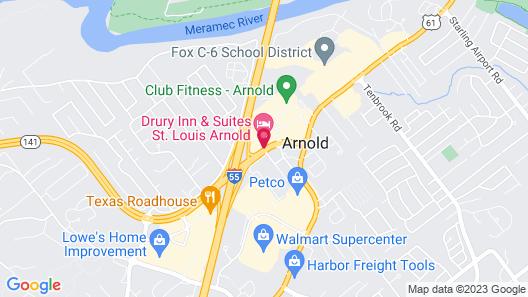 Pear Tree Inn St. Louis Arnold Map