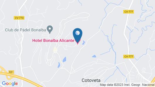 Sercotel Hotel Bonalba Alicante Map