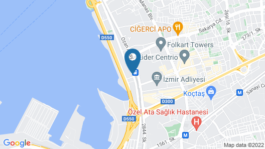 Hilton Garden Inn Izmir Bayrakli Map