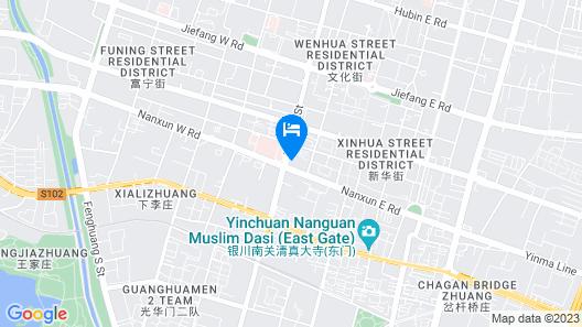 Atour Hotel Yinchuan Drum Tower Map