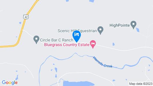 Bluegrass Country Estate B&B Map