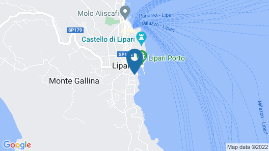 Apartment With 2 Bedrooms in Lipari, With Furnished Terrace - 20 m From the Beach Map