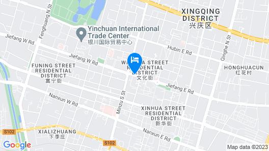 Jinjiang Inn Yingchuan Drum Tower Map
