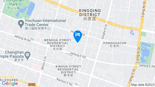Yinchuan Shengshi Garden Hotel Map