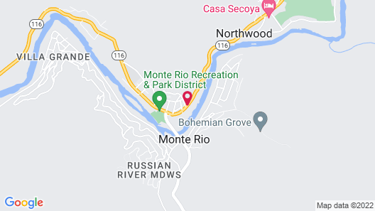 Inn on the Russian River Map