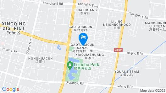 GreenTree Inn Yinchuan Beijing Road Express Hotel Map