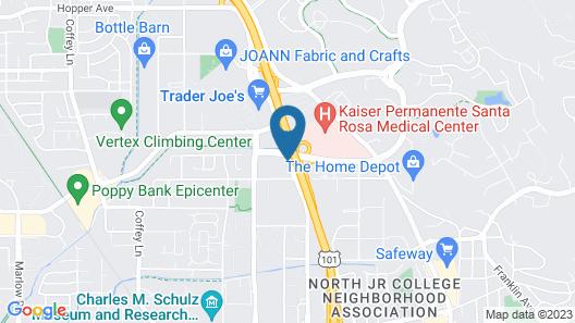 Motel 6 Santa Rosa, CA - North Map