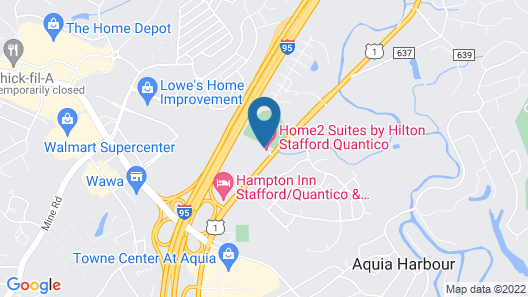Home2 Suites by Hilton Stafford Quantico Map