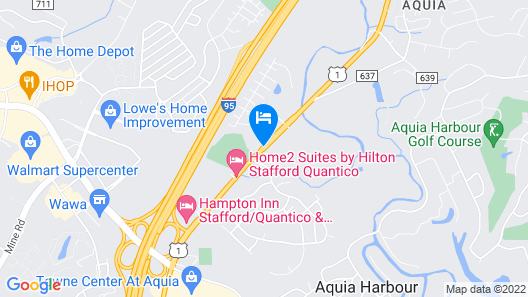 Suburban Extended Stay Hotel Quantico Map