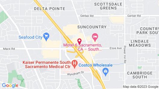 Oasis Inn Sacramento - Elk Grove Map