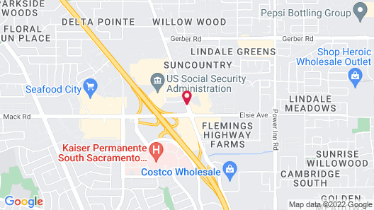 Red Roof Inn Sacramento - Elk Grove Map