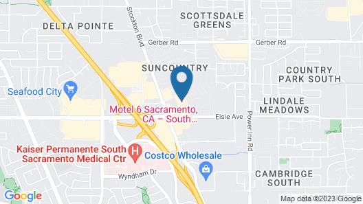 Motel 6 Sacramento, CA - South Map