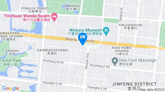 JW Marriott Hotel Yinchuan Map
