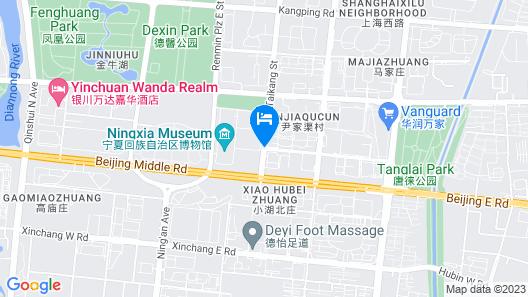 Yinchuan Vintage Hill Hotels & Resorts Map