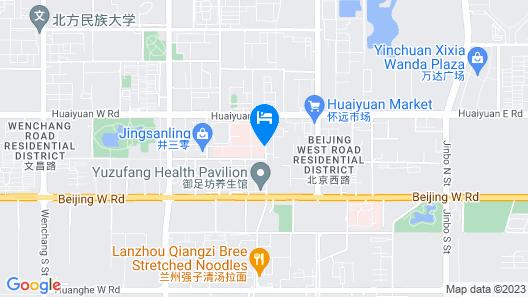 Yinchuan Peng Bo Hotel Map