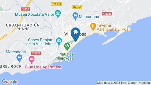 Hotel Allon Mediterrània Map