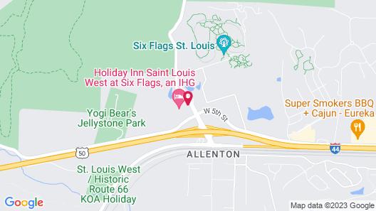 Holiday Inn St. Louis West Six Flags, an IHG Hotel Map