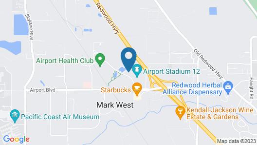 Hilton Garden Inn Sonoma County Airport Map