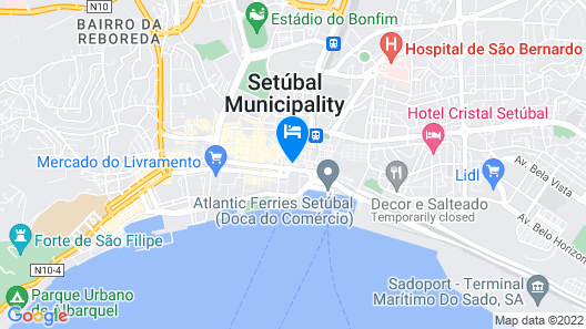 Apartment With one Bedroom in Setúbal, With Wonderful City View and Wifi Map