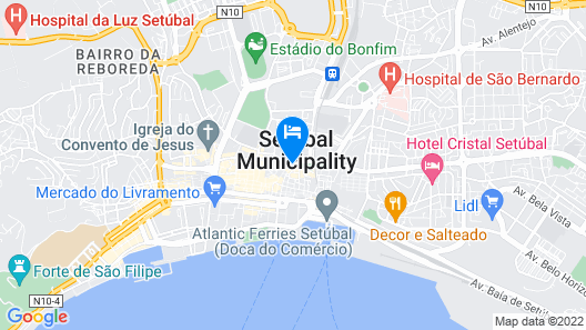 Apartment With one Bedroom in Setúbal, With Wonderful City View, Furnished Balcony and Wifi - 2 km From the Beach Map