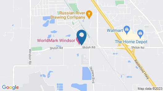 WorldMark Windsor Map