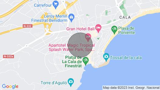 Cala DE Finestrat Residential Villamar With Wifi Installed Map