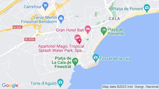 Apartamentos Jesús Benidorm Playa Map