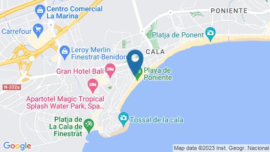 Gran Hotel Delfin Map
