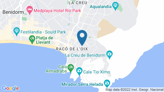 Benidorm Celebrations Music Resort Map
