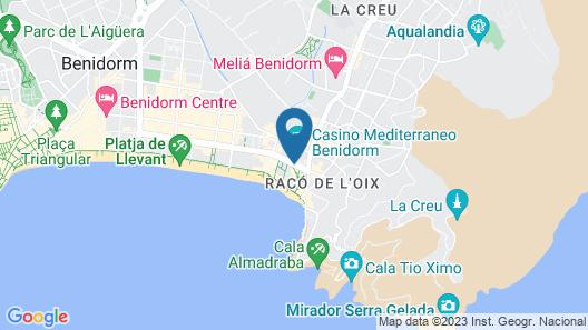 Apartamentos Oasis Benidorm Map