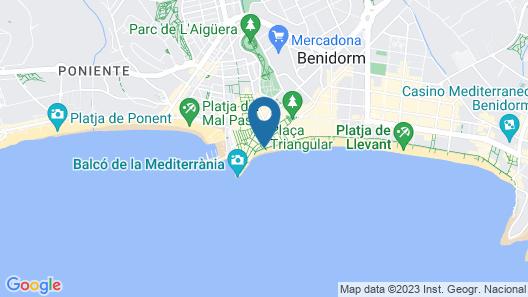 Apartamentos Senabre Palais Map