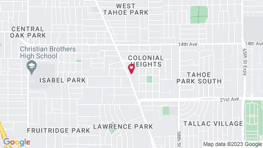 The Greens Hotel - Stockton Blvd Map