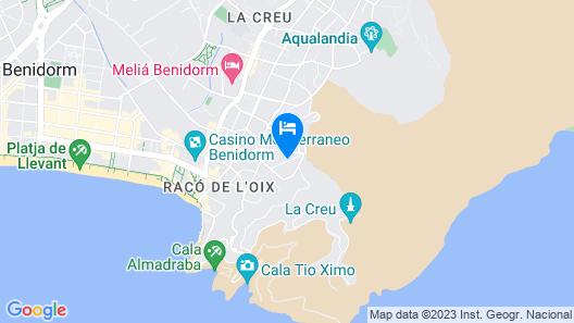 Hotel Palm Beach - Includes Tickets to Mundomar & Aqualandia Parks Map