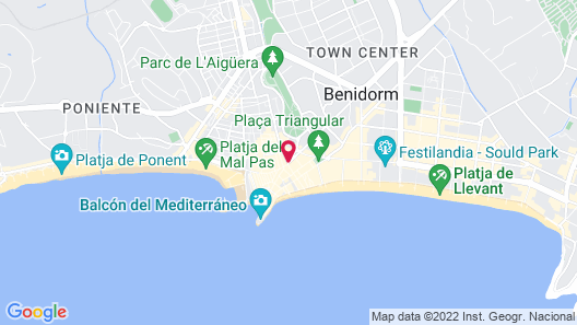 2Sleep - Estudios Benidorm Map