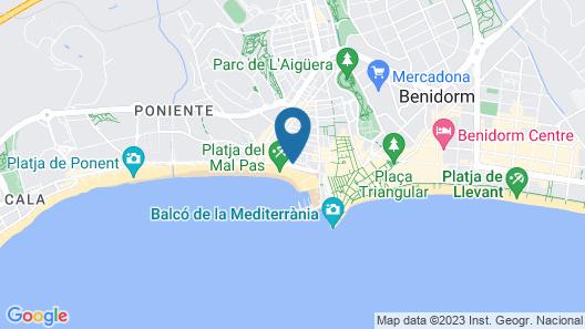 Hotel Flats Friends Mar Blau Map