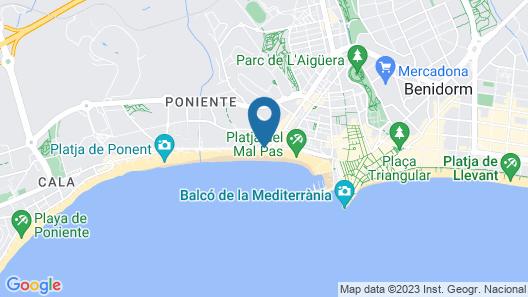 Villa del Mar Hotel Map