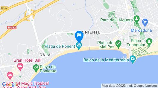 Hotel Poseidón Playa Map