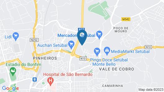 Hotel Campanile Lisbon South - Setubal Map