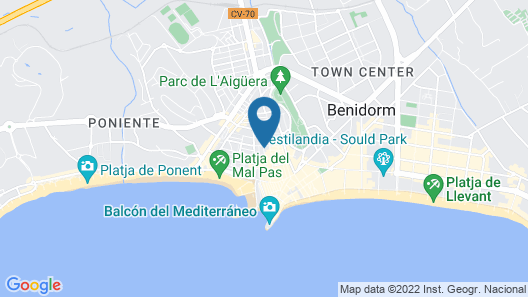 Hostal Boutique Benidorm Blue Beach Map