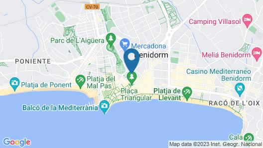 Hotel Benidorm Plaza Map