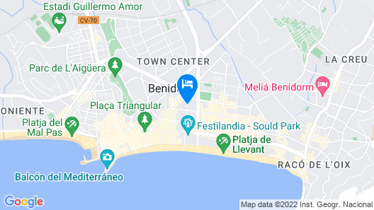 Sandos Monaco Hotel - Adults Only Map