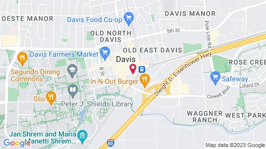 Hilton Garden Inn Davis Downtown Map